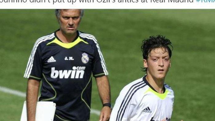 Berseteru Lagi dengan Jose Mourinho, Mesut Oezil Dipersilakan Menangis seperti Bayi