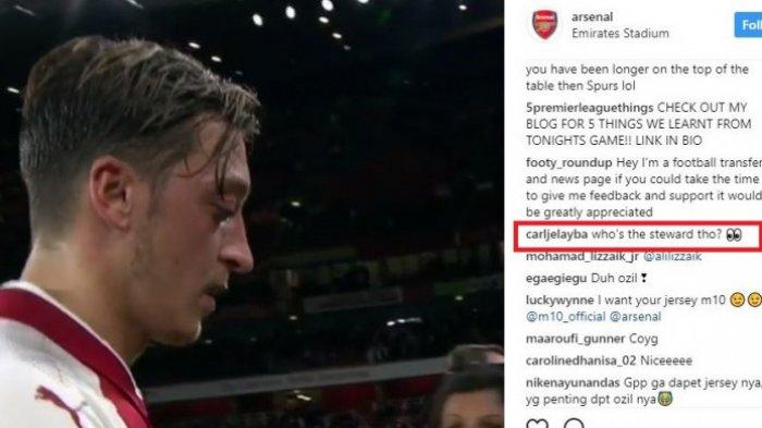 Lihat Ini Reaksi Anak Kecil Usai Mesut Ozil Berikan Jersey, Tapi Warganet Fokus ke Gadis Itu