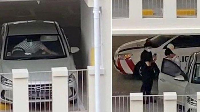 Sejoli Sedang Mesum Tepergok Polisi, Awalnya ada Mobil Goyang di Parkiran