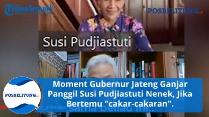 Momen Ganjar Pranowo Panggil Susi Pudjiastuti Nenek, Susi: Gubernur Satu Ini