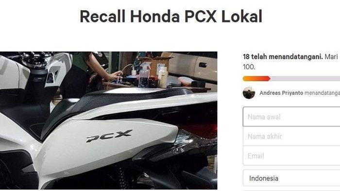 Ada Apa? Petisi Recall Honda PCX Lokal Makin Kencang, Pemilik Motor Ungkap Kronologis Masalah