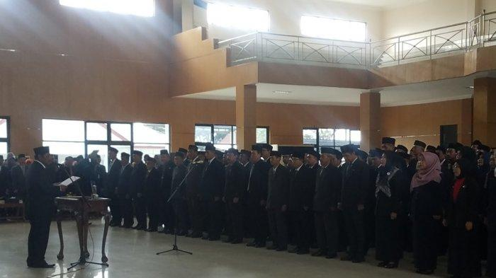 Bupati Belitung Sahani Saleh Mutasi 113 Pejabat Eselon, Ini Jabatan Baru Enam Pejabat Eselon II