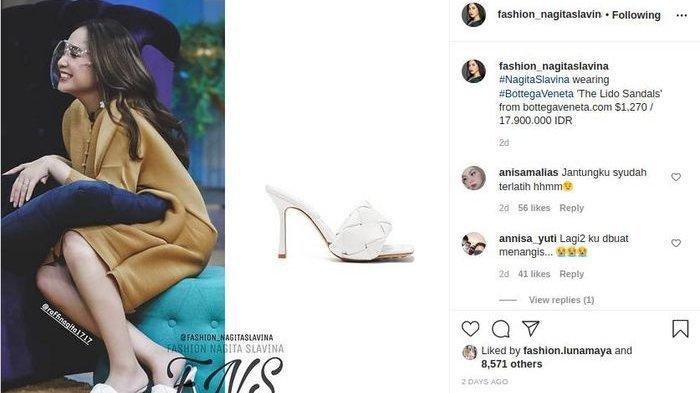 Cuma Buat Diinjak-Injak, Sandal yang Dikenakan Nagita Slavina Seharga Motor, Begini Reaksi Netizen