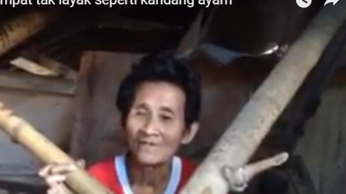 (VIDEO) Sedihnya, Lihat Nenek Ini Tinggal di Gubuk Seperti Kandang Ayam