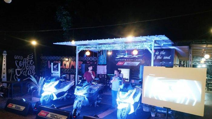 Tunas Dwipa Matra (TDM) Gelar Roadshow Sekaligus Launcing Honda New PCX 160 CC Secret Cafe Manggar, (Rabu ,24/02/2021)