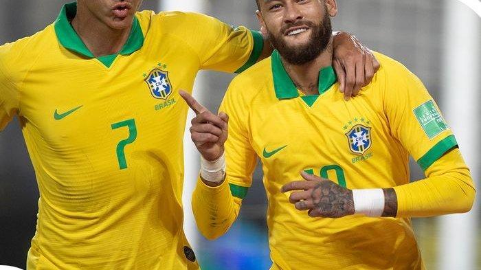 Hasil Kualifikasi Piala Dunia 2022, Hattrick Neymar Lampaui Rekor Ronaldo, Brasil Menang Dramatis