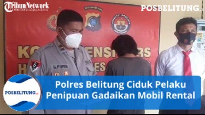 Gadaikan Mobil Rental Rp20 Juta, Rico Diamankan Satreskrim Polres Belitung