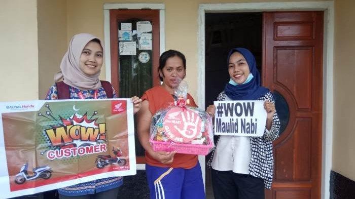 Surprise Birthday dari Dealer Honda Nusantara Sakti untuk Konsumen