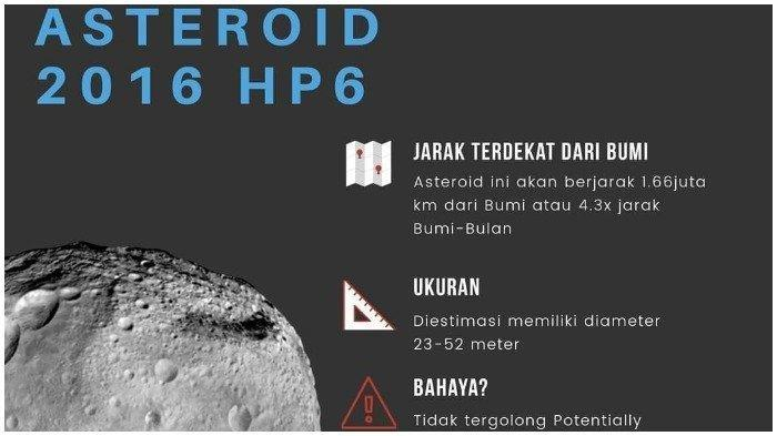 Observatorium Bosscha Bantah Asteroid Apollo yang Mendekat pada 8 Mei Akan Tabrak Bumi, Ini Jelasnya