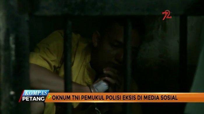 Oknum TNI Pemukul Polantas Diduga Kambuh Sakit Kejiwaannya, Tangannya Diborgol Kakinya Dirantai