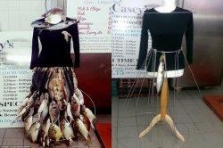 Heboh! Desain Pakaian dari Ikan Mentah