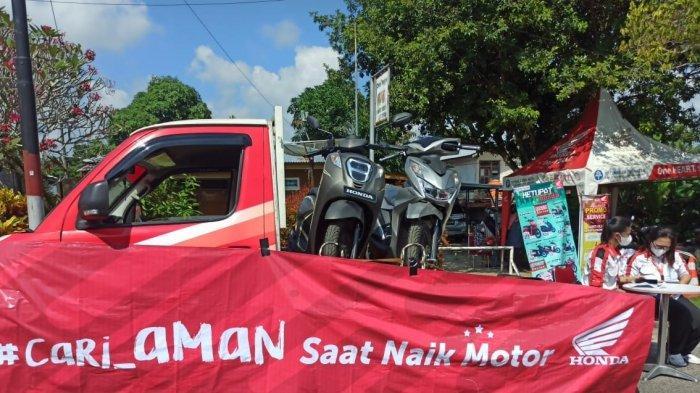 Pameran Sepeda Motor Honda, bertempat di jalan hayati mahim kelurahan Lesung Batang Senin (10/5/2021)