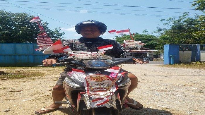 Hiasi Sepeda Motor Miliknya, Komo Ajak Masyarakat Maknai Detik-detik Proklamasi Republik Indonesia
