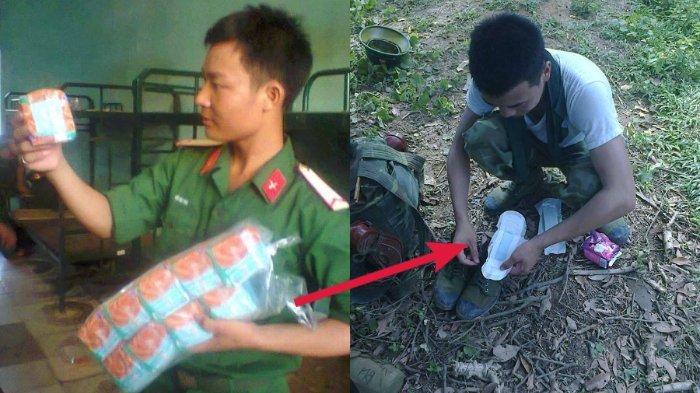 Foto Tentara Pamer Gunakan Pembalut Ini Jadi Viral, Siapa Sangka juga Bermanfaat untuk Pria