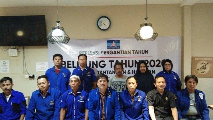 DPC Demokrat Belitung Gelar Refleksi Akhir Tahun di Warkop