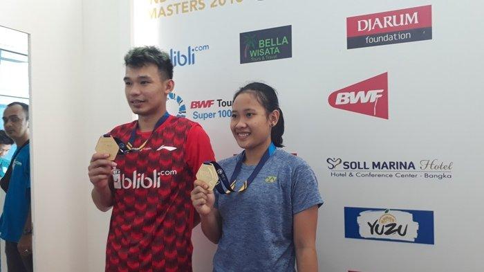 Pasangan Rinov-Mentari Juara Ganda Campuran Bangka Belitung Indonesia Masters 2018