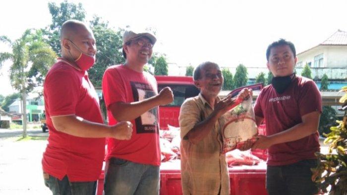 PDI Perjuangan Beltim Salurkan Ribuan Bantuan