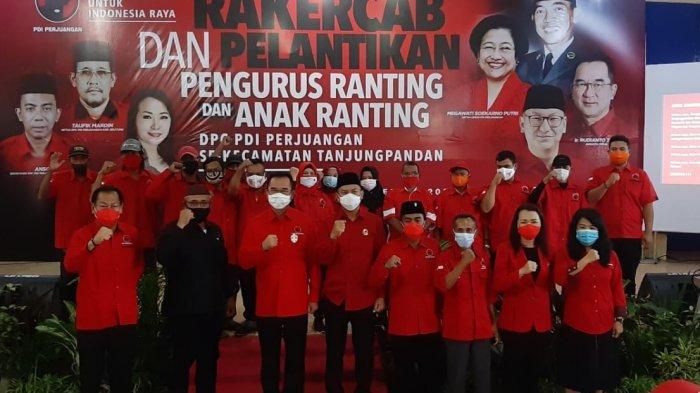 Pelantikan Pengurus Ranting dan Anak Ranting PDI Perjuangan Belitung Dihadiri Rudianto Tjen