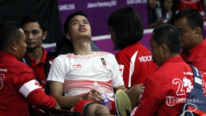 Kram Kaki saat Laga kontra Shi Yuqi, Anthony Sinisuka Ginting Sudah Bisa Jalan dan Makan Enak