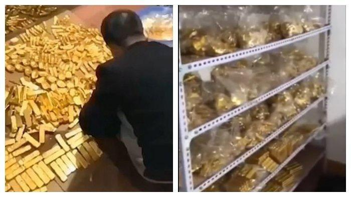 Polisi Syok Geledah Rumah Koruptor Ini, Temukan Emas Segunung dan Uang Setengah Trilliun di Bungker