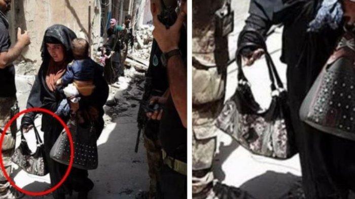 Mencengangkan, Wanita Pelaku Bom Bunuh Diri Terekam Kamera Sambil Menggendong Anak