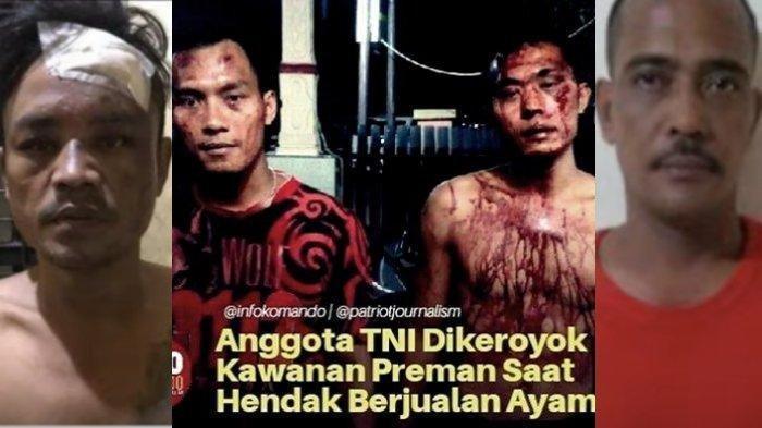 Gini Nasib Preman Pasar Setelah Nekat Keroyok Anggota TNI Yonif Raider di Tangan Personel Gabungan