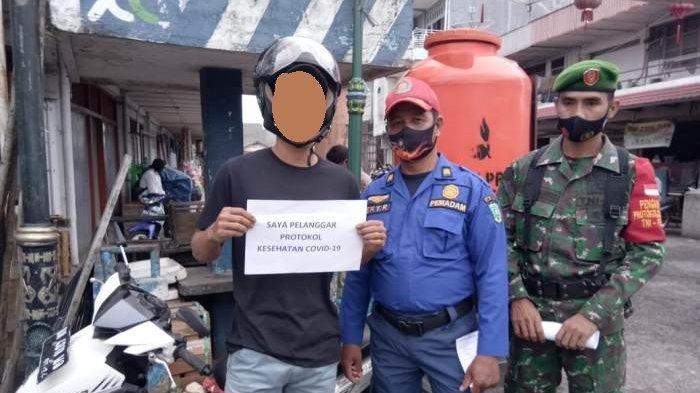 Satpol PP Belitung dan TNI/Polri Turun ke Lapangan, Peringatkan Warga Tidak Gunakan Masker