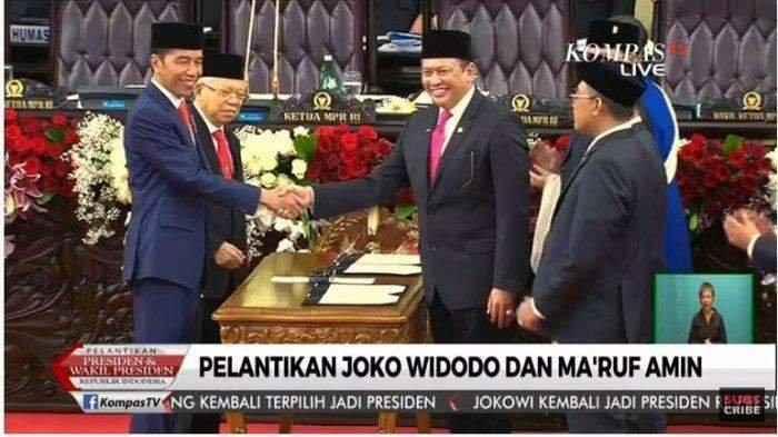 Jokowi-Maruf Resmi Jadi Presiden RI, Usai Bersumpah di Gedung DPR-MPR