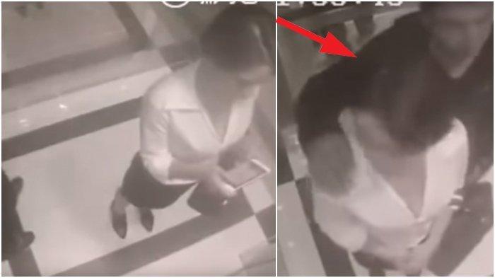 Pria Ini Terekam Lecehkan Wanita Berkemeja Belahan Dada Rendah di Lift, Endingnya Tak Disangka