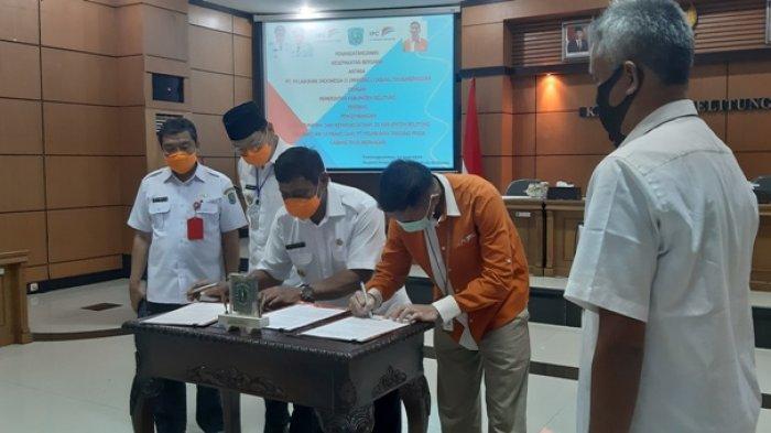 Bupati Belitung dan GM IPC Tanjungpandan Lakukan Kerjasama, Kembangkan Kepelabuhanan dan Pariwisata