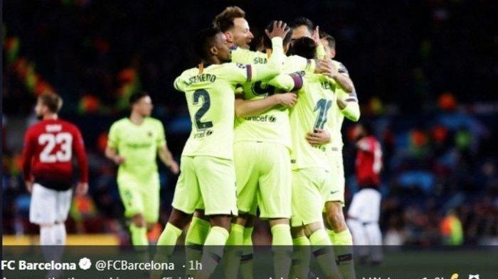 Prediksi dan Analisa Jelang Leg II Liga Champions Barcelona Vs Man United, Mampukah Setan Merah
