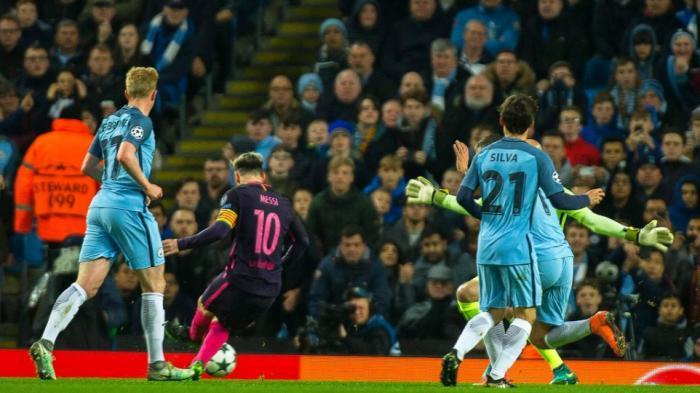 Messi Ngamuk Karena Dihina Pemain City, Untung Ada Sergio Aguero yang Menenangkannya