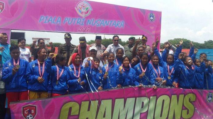 PS Babel Juara Piala Putri Nusantara U-14 Tahun 2017