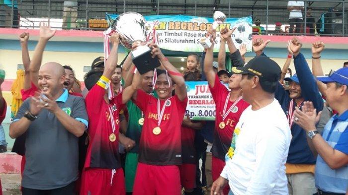 RMC Sungai Padang Juara Turnamen Begalor XIV Kecamatan Sijuk