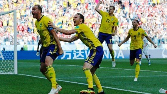 Hasil Laga Swedia Vs Korea Selatan, Tendangan Penalti Granqvist Bawa Tiga Poin