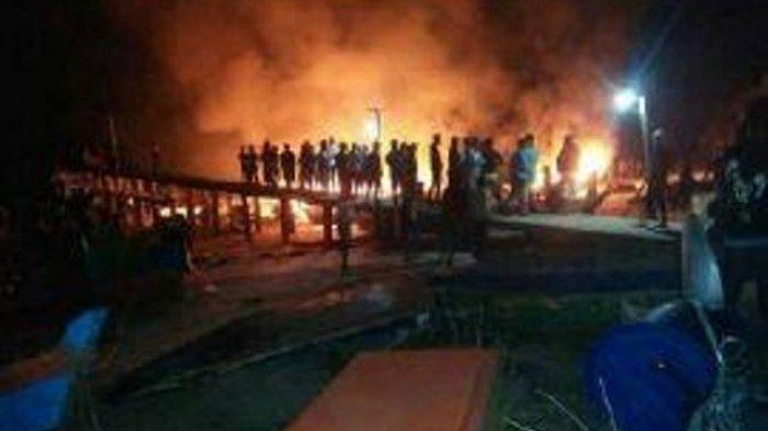 Jaksa Tuntut Pembakar Ponton Tambang Santo Terancam 8 Bulan Penjara