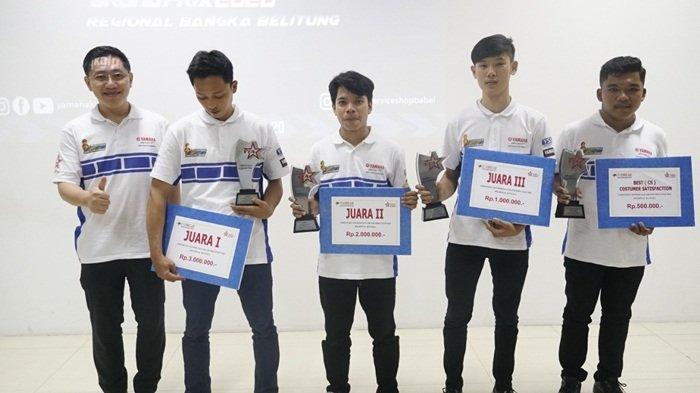 Inilah Pemenang Kontes Mekanik Yamaha, Ramadani Wakili Babel ke Tingkat Nasional