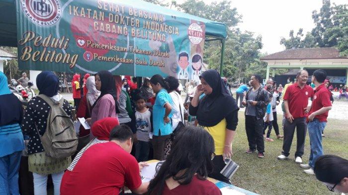 IDI-Dispora Belitung Gelar Pemeriksaan Kesehatan Gratis