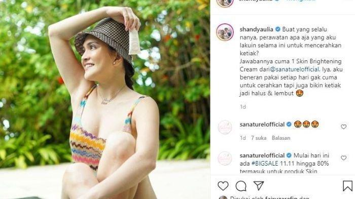 Penampilan Shandy Aulia yang seksi bikin salah fokus