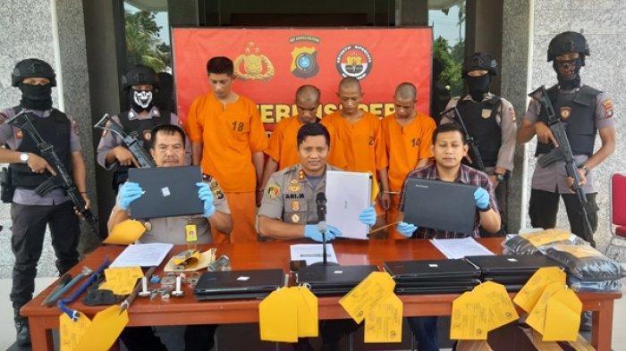 Anggota Buser Polres Belitung Nyaris Terluka Saat Menangkap Pelaku Pencuri 13 Laptop