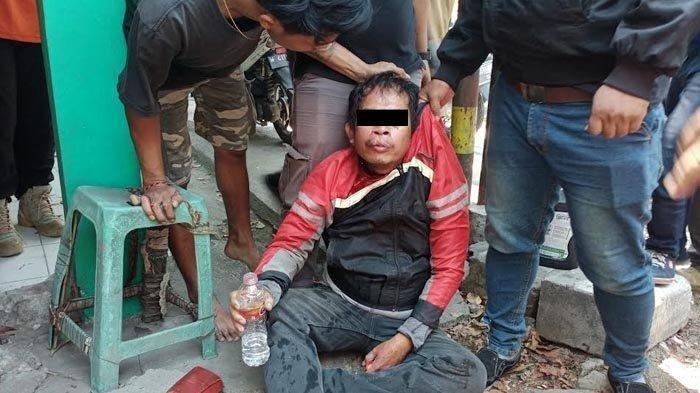 Sempat Dikejar Warga, Pencuri Motor Jatuh Ditabrak Korbannya, Babak Belur Dihajar Massa