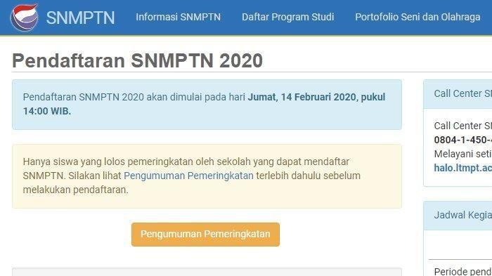 Pendaftaran SNMPTN 2020 Resmi Dibuka, Ini Jadwal dan Langkah Calon Peserta