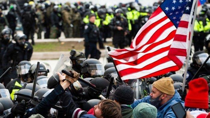 Massa Serang Gedung Capitol Hill, Partai Republik Murka, Usul Segera Copot Donald Trump