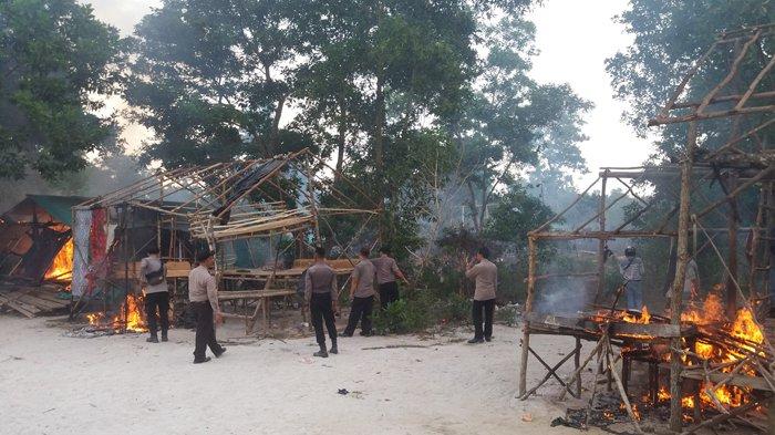 300 Personil Dikerahkan Tertibkan Ponton TI dan Pondok di Rambat