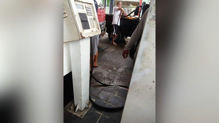 Pengerit di SPBU Ini Bisa Isi BBM Semaunya ke Jerikan, Kapolres Bangka Bilang Begini