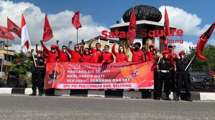 Pengurus DPC PDI Perjuangan Kabupaten Belitung Gelar Aksi