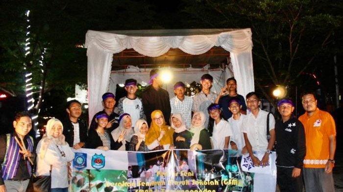 Siswa SMA Negeri 1 Tanjungpandan Gelar Pentas Seni Hasil Kegiatan Gerakan Seniman Masuk Sekolah