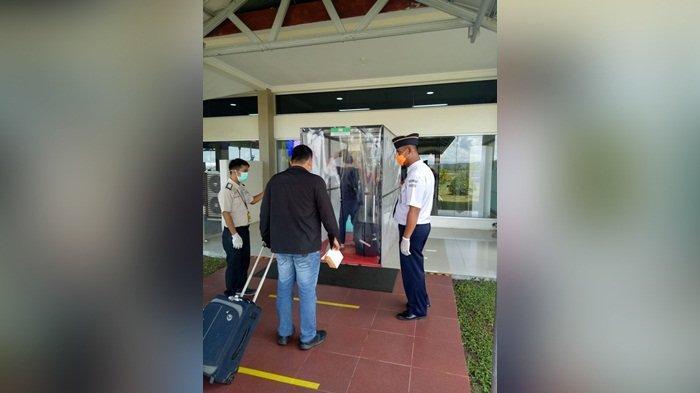 Cegah Virus Corona Masuk ke Belitung, Bandara H.AS.Hanandjoeddin Pasang Alat WTD