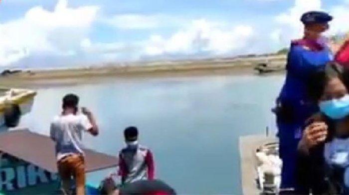 Patroli Satpolairud Polres Bangka Barat Amankan Dua Speed Lidah Bawa Pemudik di Perairan Muntok