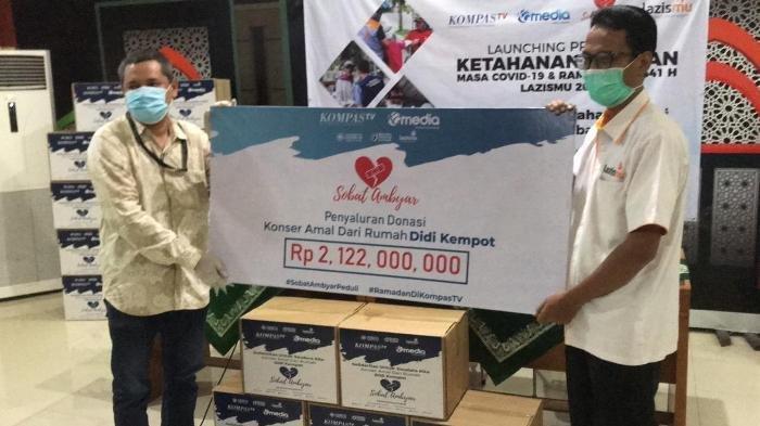 KompasTV Salurkan Donasi Hasil Konser Amal dari Rumah Didi Kempot, Bantu Warga Terdampak Covid-19